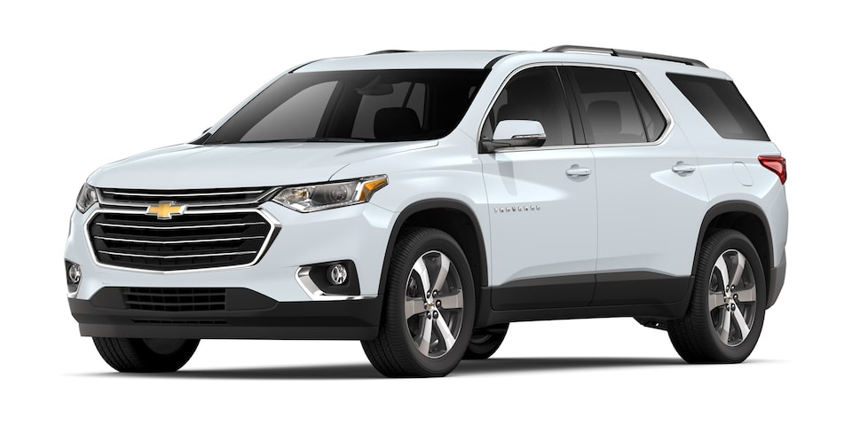 Chevrolet Traverse 2020, camioneta familiar en color blanco