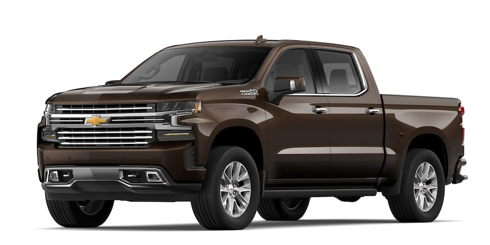 Cheyenne 2020 high Country pickup doble cabina de moca metálico